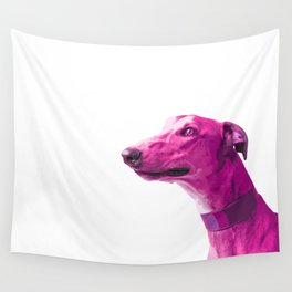 Pink Greyhound. Pop art dog. Wall Tapestry