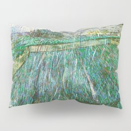Vincent van Gogh - Wheat Field In Rain - Digital Remastered Edition Pillow Sham