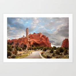 A Ride in Kodachrome Basin State Park close to sunset Art Print