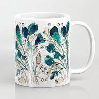 emerald Mugs featuring Emerald by Tonya Doughty