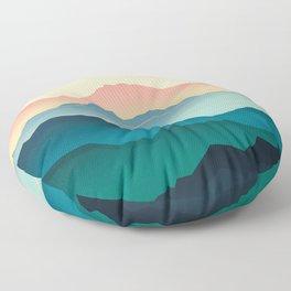 Wanderlust Gradient Mountain Floor Pillow