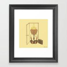 Honey, I'm Home. Framed Art Print
