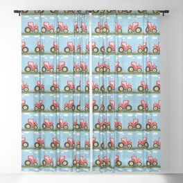 Toy tractor pattern Sheer Curtain