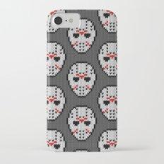 Knitted Jason hockey mask pattern Slim Case iPhone 7