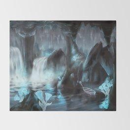 Glowbell Cavern Throw Blanket
