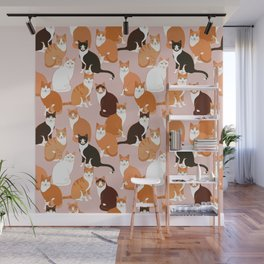 Ginger Cats Wall Mural