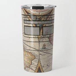 adventure awaits world map design 1 Travel Mug