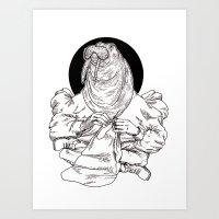 walrus Art Prints featuring Walrus by Hopler Art