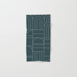 Deco Geometric 04 Teal Hand & Bath Towel