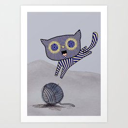 Teacake Kitten Art Print