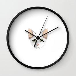 Cornish Rex Cat Mom Fur Life Kitty Pun Wall Clock
