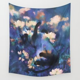 A Cat's Dream Wall Tapestry
