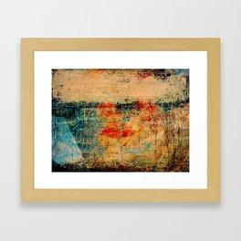 Bateau Dans La Brume Framed Art Print