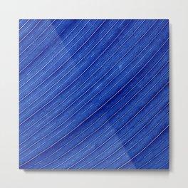 blue leaf II Metal Print