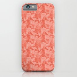 Pantone Living Coral 16-1546 Abstract Geometrical Triangle Patterns 2 iPhone Case