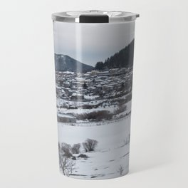Snowy landscape from Sicily Travel Mug