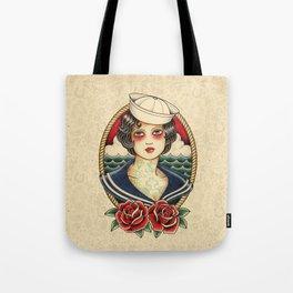 Sailor Girl Tattoo Tote Bag