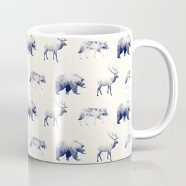 Wild Pattern // Blue Coffee Mug