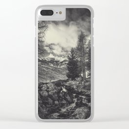 timeless mountains Clear iPhone Case