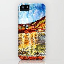 landskape-lake-fishing-oldtown iPhone Case