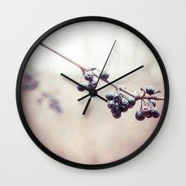 Jewelled Berries Wall Clock