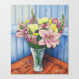 Baby Pink Lilies Canvas Print