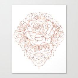 Mandala Lunar Rose Gold Canvas Print