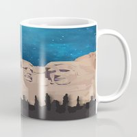 rushmore Mugs featuring Night Mountains No. 15 by Bakmann Art