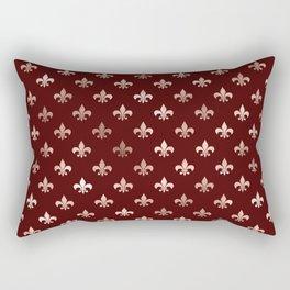 Deep Red Royal Pattern Rectangular Pillow