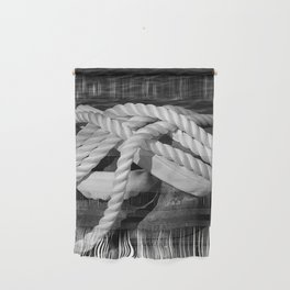 Mooring Rope tied to the dock Wall Hanging