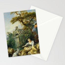 """François Boucher """"Les presents du berger ou Le nid"""" Stationery Cards"""