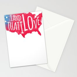 Land I Love Respect Country Loyalty Patriotism tee Stationery Cards