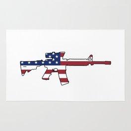 American Flag: M4 Assault Rifle Rug