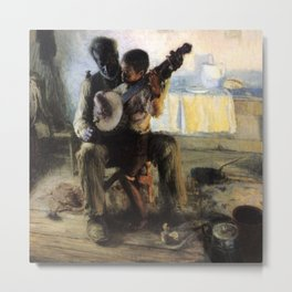 African American Masterpiece 'The Banjo Lesson' by Henry Ossawa Tanner Metal Print