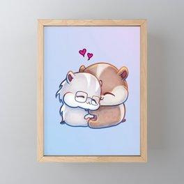 Hamsters HamHams Huggy Hugs Framed Mini Art Print