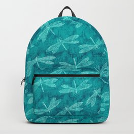Dragonfly Dance Blue Green Backpack