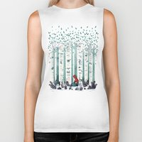 indie Biker Tanks featuring The Birches by littleclyde