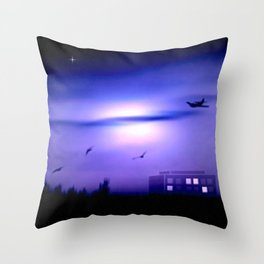 Flight home. Throw Pillow