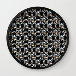 Sparkling Gold and Silver Vintage Rhinestone Crystals Beaded Mesh Wall Clock