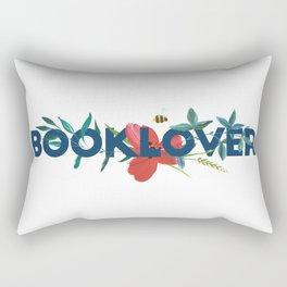 Floral BOOKLOVER Rectangular Pillow