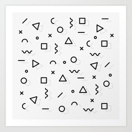 pattern square triangle circle Art Print