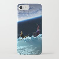 skiing iPhone & iPod Cases featuring Skiing by Cs025