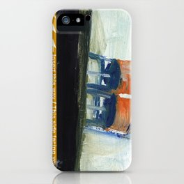 NYC Water Towers Painted on subway fare card iPhone Case