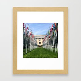 UN Flags Framed Art Print
