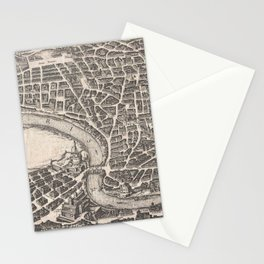 Vintage Map of Rome Italy (1652) Stationery Cards