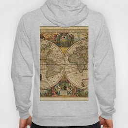 1663 Orbis Geographica Old World Map by Henri Hondius Hoody