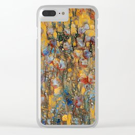Flowers Character Vivid Clear iPhone Case
