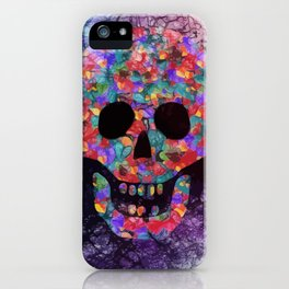 Happy skull iPhone Case