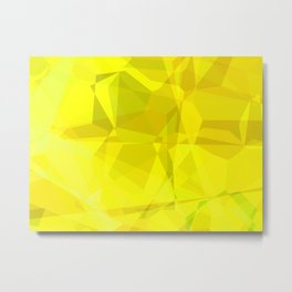 Pale Yellow Poinsettia 1 Abstract Polygons 3 Metal Print