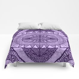 Grape Tangled Mania Pattern Doodle Design Comforters